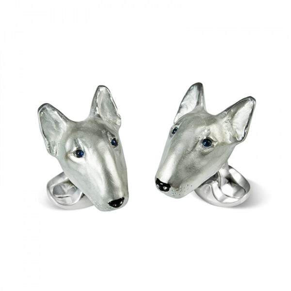 Sterling Silver English Bull Terrier Dog Cufflinks
