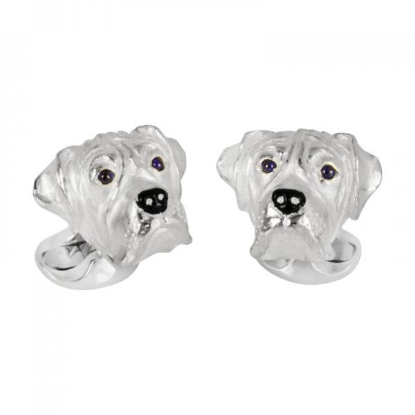 Sterling Silver Boxer Dog Cufflinks