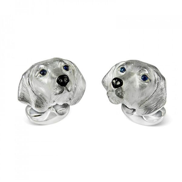 Sterling Silver Hungarian Vizla Dog Cufflinks