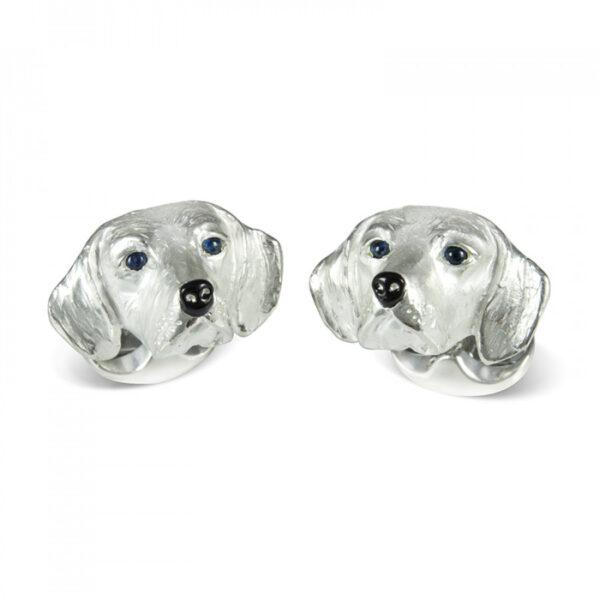 Sterling Silver Beagle Dog Cufflinks
