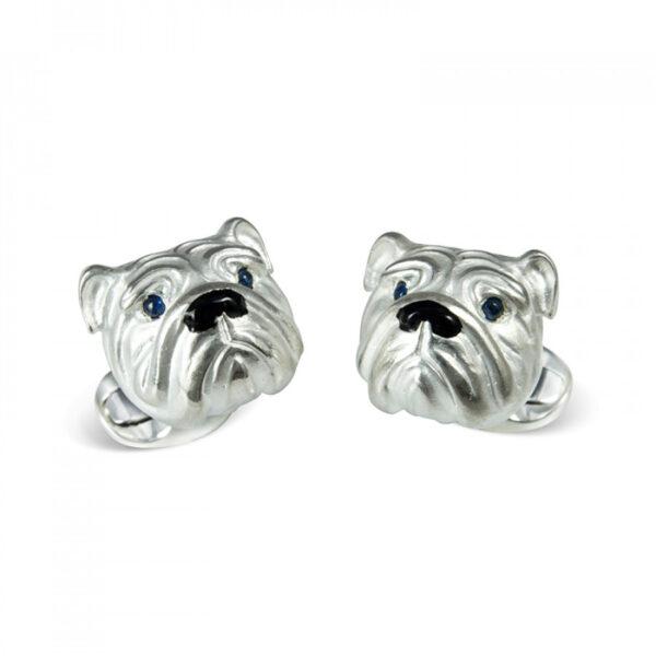 Sterling Silver Bulldog Cufflinks