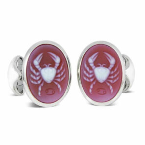 Sterling Silver Zodiac Cufflinks - Cancer