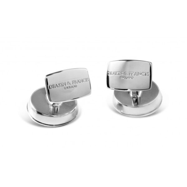 Jet Turbine Engine Cufflinks in Polished Black Rhodium