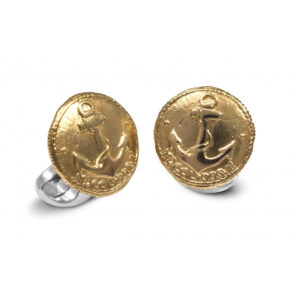 Sterling Silver 230 Coin Cufflinks - Anchor