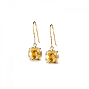 Leora Cushion Shaped Citrine Drop Earring