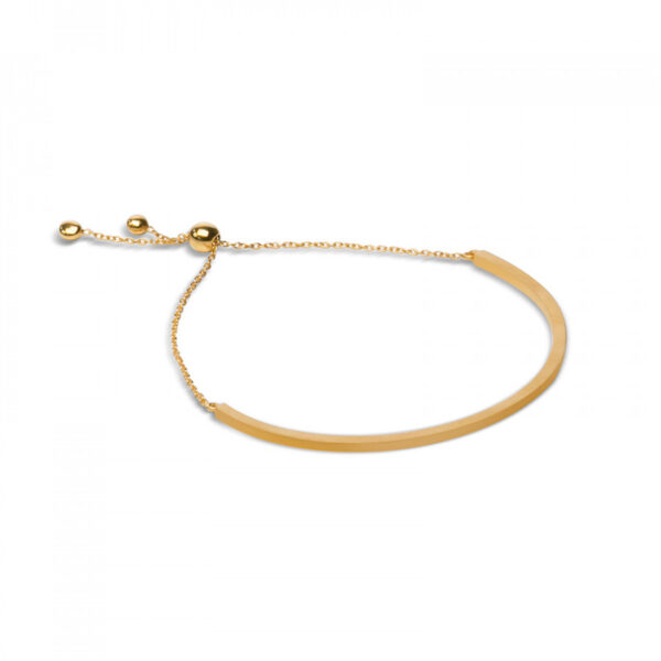 Bonita Gold Plated Half Bar Bracelet