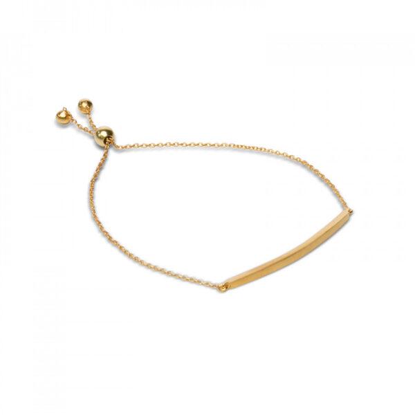 Bonita Gold Plated Medium Bar Bracelet