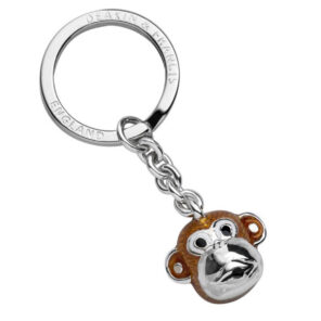 Sterling Silver Monkey Head Keyring