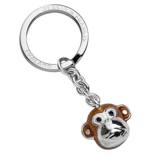Sterling Silver Monkey Head Keyring