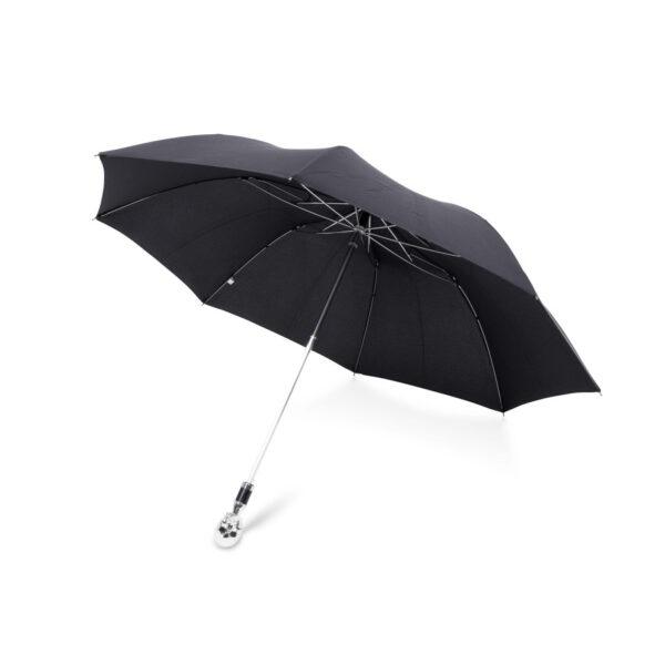 Small Black Umbrella with Skull Head Handle