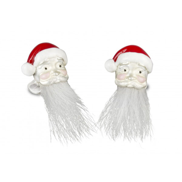 Sterling Silver Hairy Santa Cufflinks