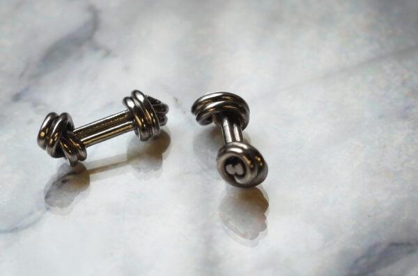 Sterling Silver Double Knot Cufflinks