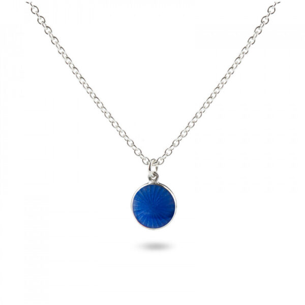 Valentina Sterling Silver Small Royal Blue Pendant