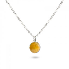 Valentina Sterling Silver Small Yellow Pendant