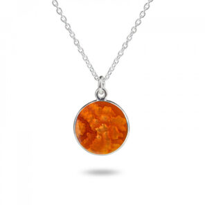 Valentina Sterling Silver Burnt Orange Pendant