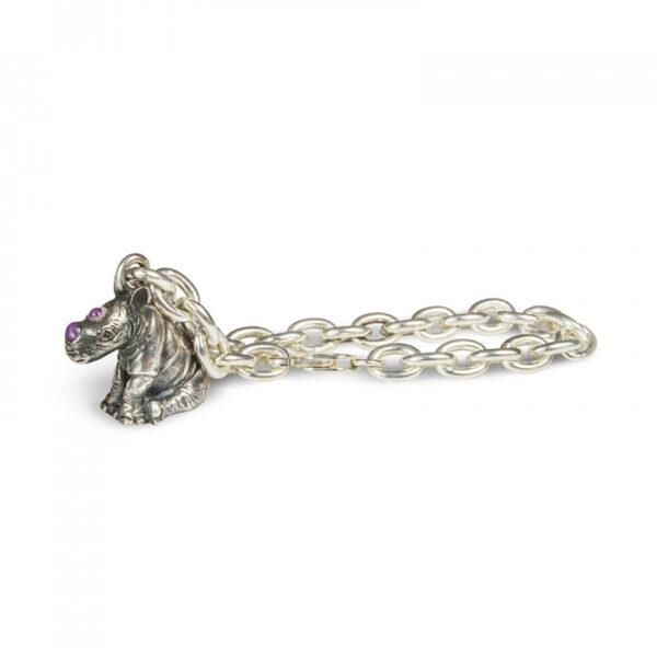 Sterling Silver Rhino Bracelet