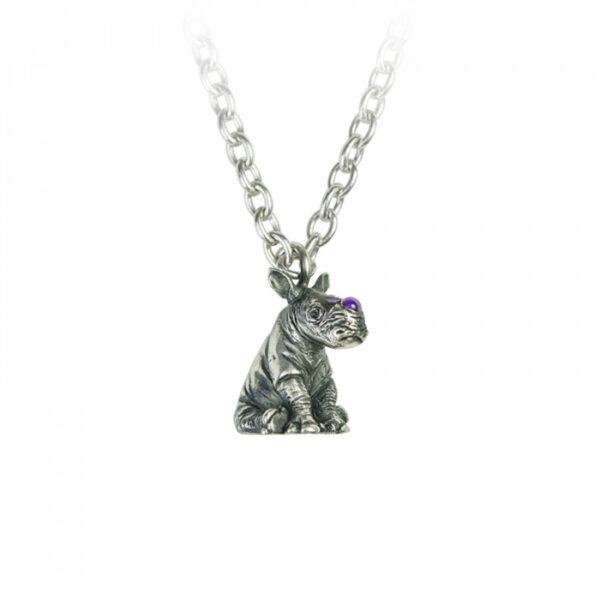 Sterling Silver Rhino Pendant