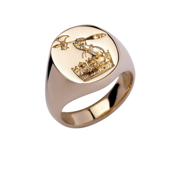 9ct Gold Oval Signet Ring - Heavy Weight (15.5 x 13.5mm)
