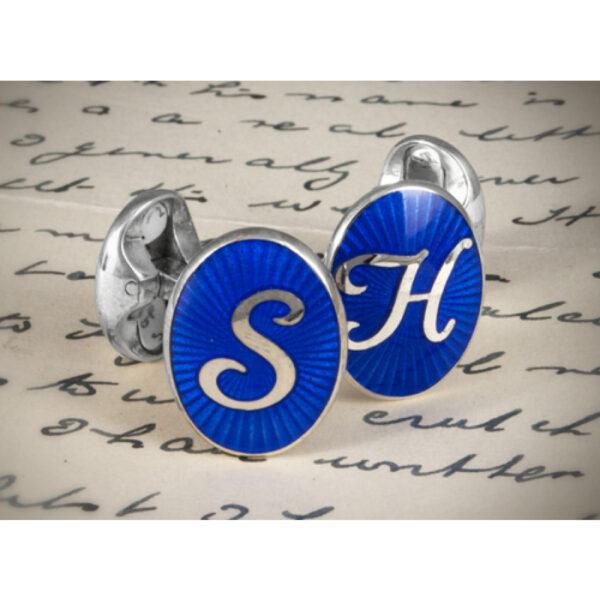 Sterling Silver Personalised Initial Cufflinks