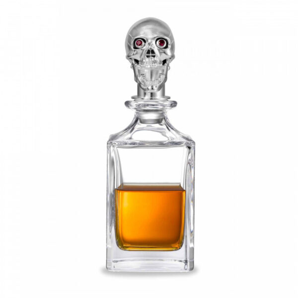 Polished Skull Head Crystal Decanter