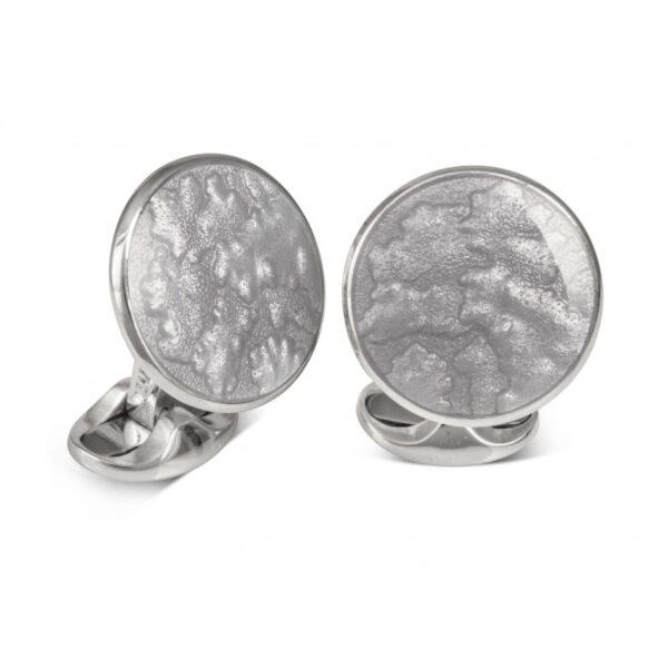 Sterling Silver Summer Haze Enamel Cufflinks in Silver