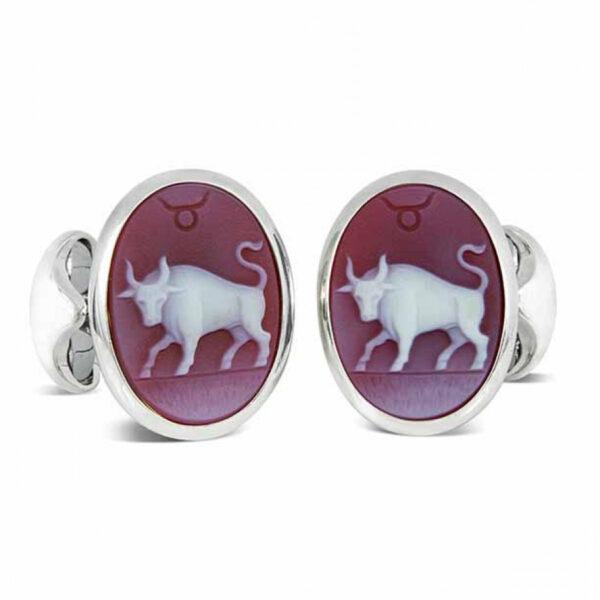 Sterling Silver Zodiac Cufflinks - Taurus