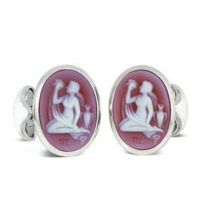 Sterling Silver Zodiac Cufflinks - Virgo