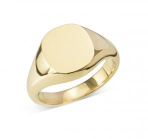 9X11MM CUSHION SIGNET RING