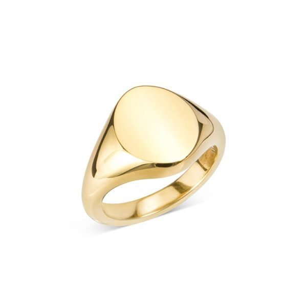 Gold Oval Signet Ring (14X11.5MM)