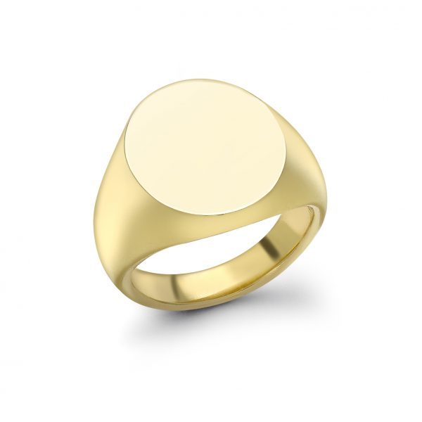 Gold Oval Signet Ring (15.5X13.5MM)