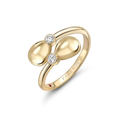 Fabergé Essence Yellow Gold Crossover Ring