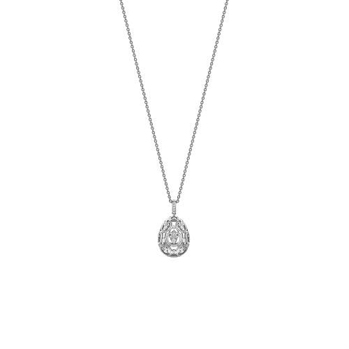 Fabergé Imperial Impératrice White Gold Diamond Set Egg Pendant