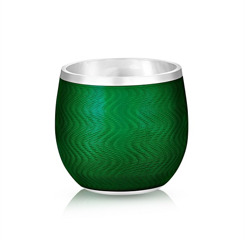 Fabergé Green Enamel Shot Glass