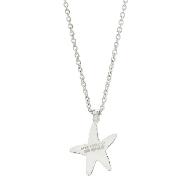 Sterling Silver Starfish Pendant and Chain