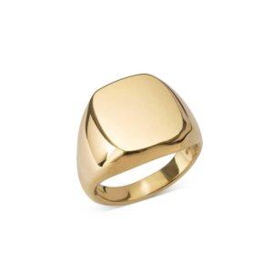 Image of cushion signet ring