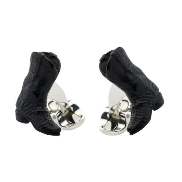 Sterling Silver Western Boot Cufflinks
