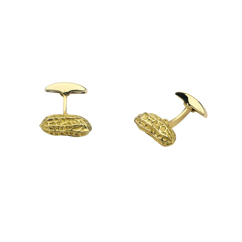 18ct Yellow Gold Peanut Cufflinks