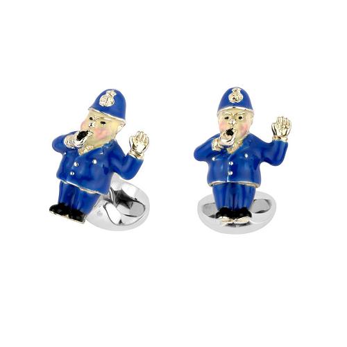 Sterling Silver Policeman Cufflinks