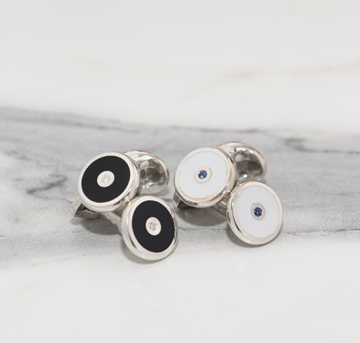 Mother of Pear and Onyx Cufflinks
